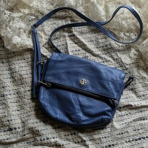 Giani Bernini Leather Crossbody Bag Indigo